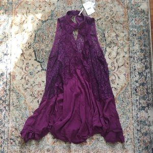 Free people purple top/dress size S
